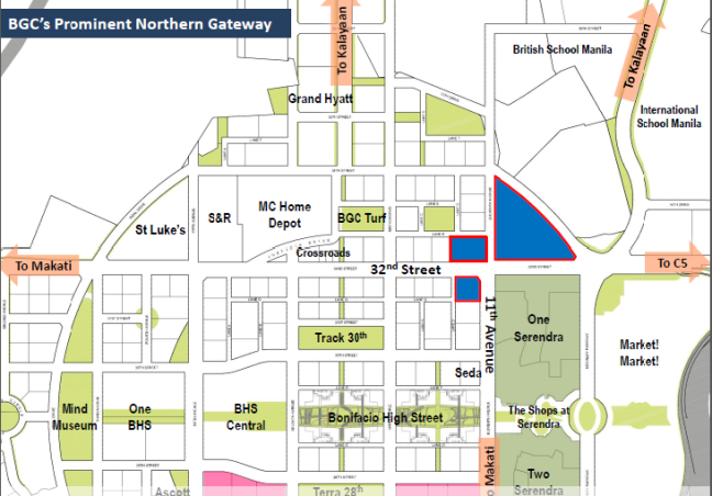Park Triangle Corporate center Location Map